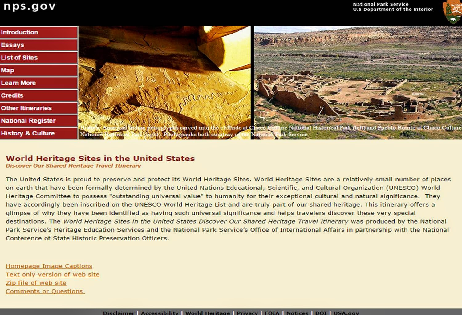 World Heritage Sites in the United States: Discover Our Shared Heritage Travel Itinerary