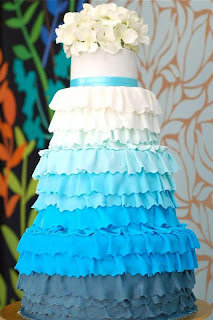 image blue ombre wedding cake