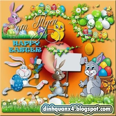 Clipart Easter - Joyous celebration on a sunny day