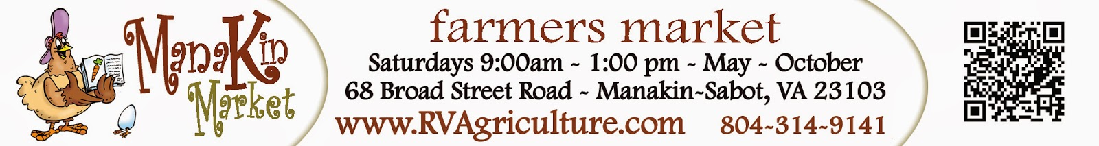 RVAg's Manakin Market is open May-Oct, 9am-1pm