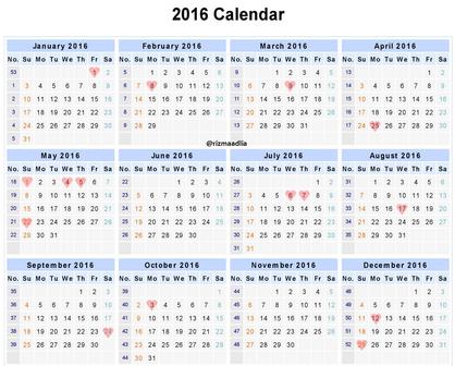 Kalender Indonesia 2016 Beserta Hari Libur dan Cuti Bersama | Blogger ...