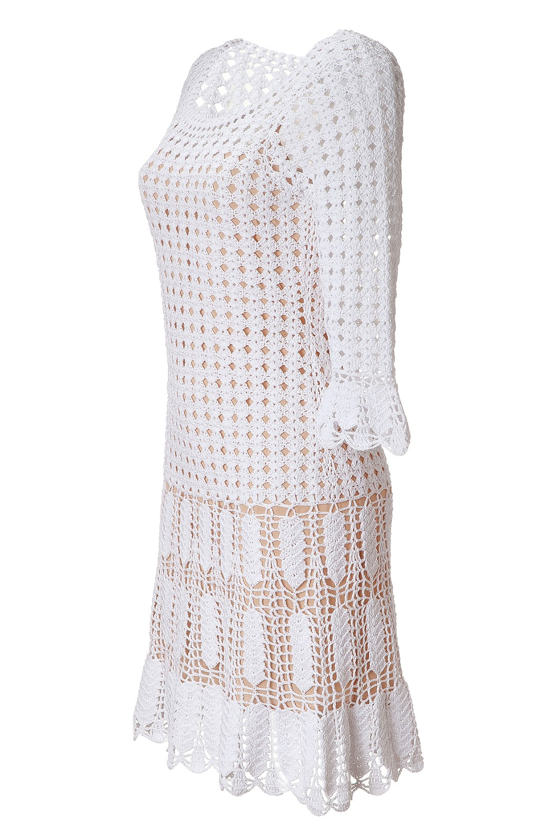 the woman in white: crochet dress