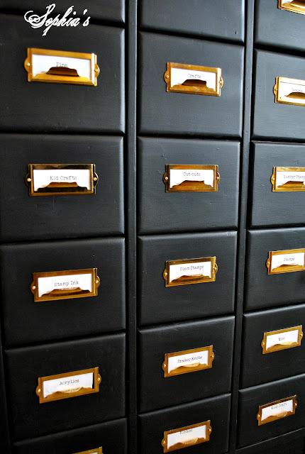 Organized Craft Cabinet