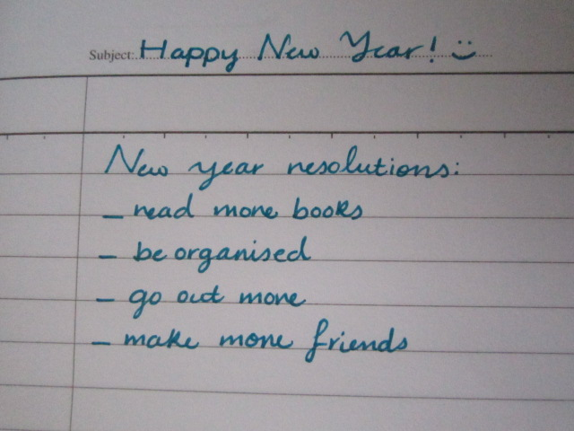my new year resolution is x