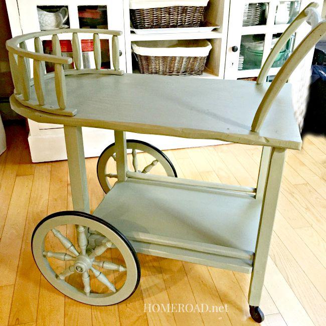 A Dreamy Rolling Tea Cart  www.homeroad.net