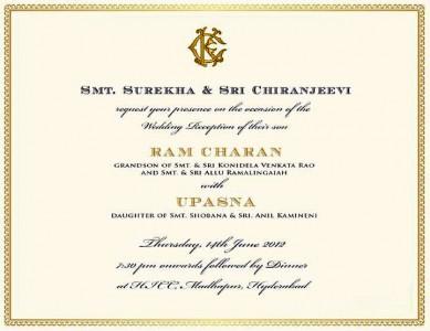 Telugu and hindi songs lyrics ram charan teja wedding invitation card ram charan teja wedding invitation card stopboris Images