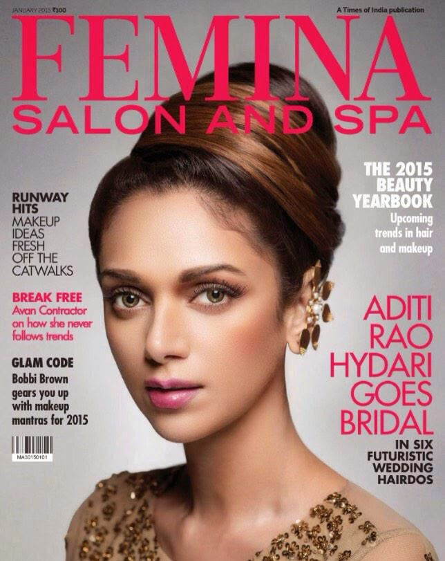 Film Actress: Aditi Rao Hydari for Femina Salon and Spa Magazine