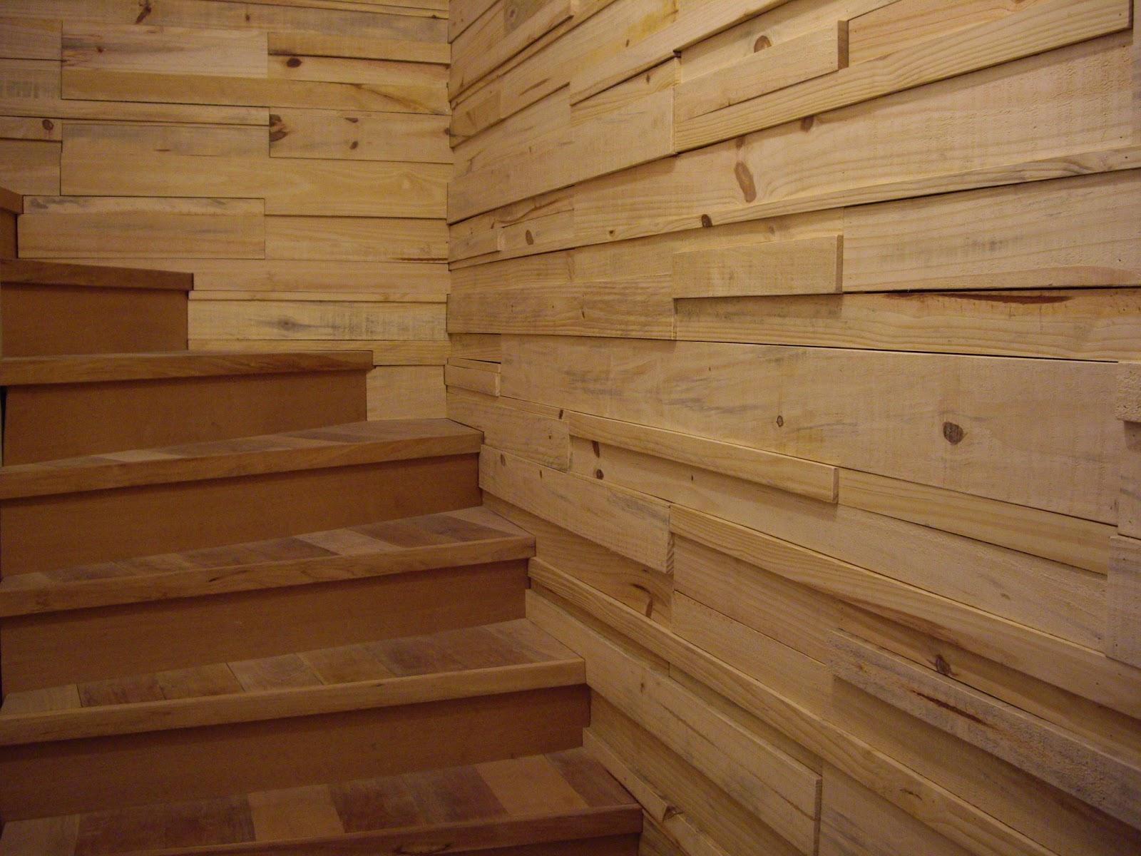 Metalarx escalera y revestimiento en madera casa ratzmann - Recubrimiento de piedra ...