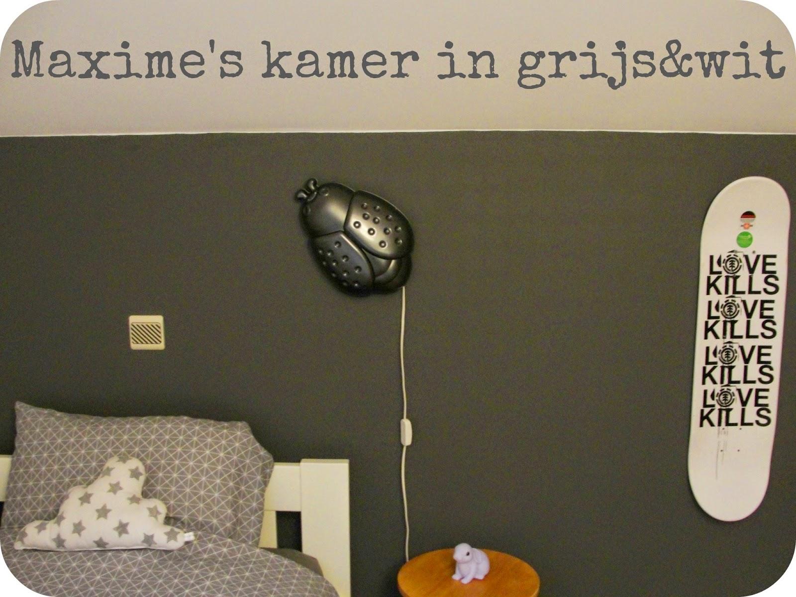 F te des gamins maxime 39 s kamer in grijs wit deel 2 - Een kamer in grijs en wit schilderen ...