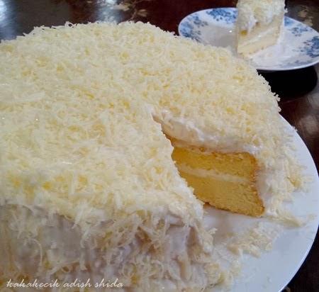 Resepi dan cara membuat kek keju meleleh