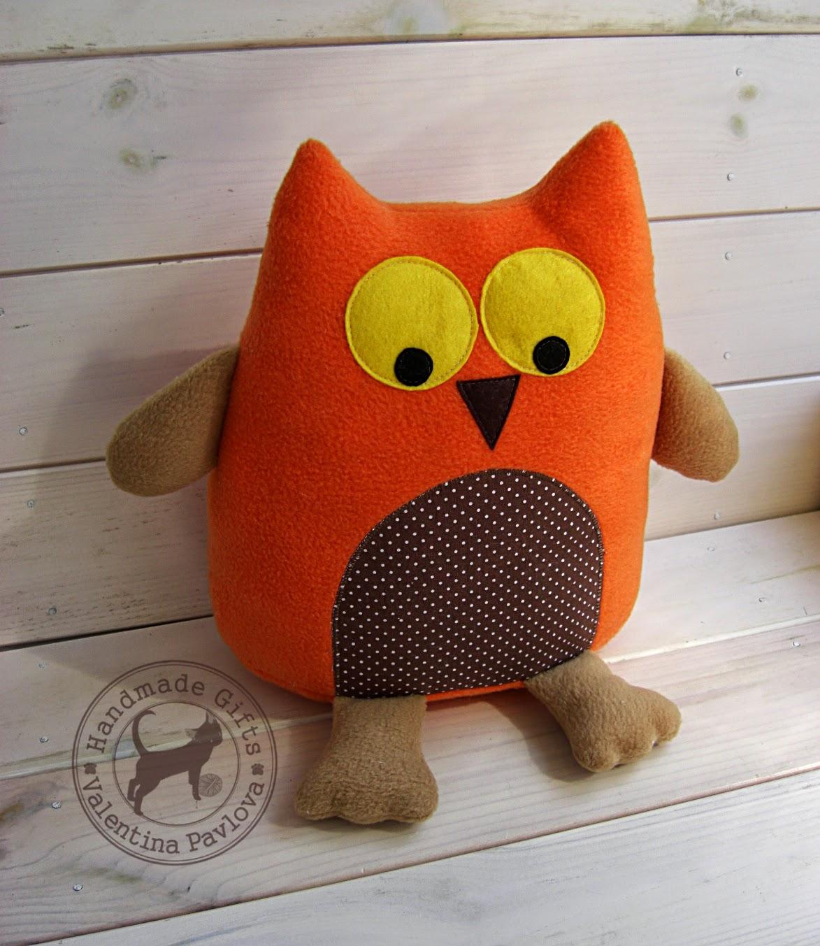 Игрушка подушка своими руками сова