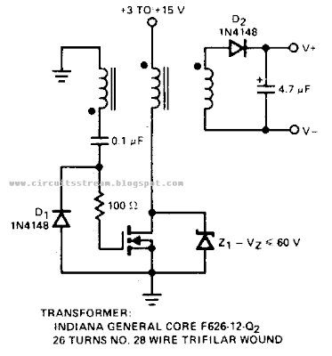 Positive input Negative output Charge pump Circuit Diagram