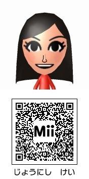 上西恵(NMB48)のMii QRコード トモダチコレクション新生活
