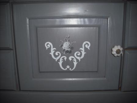 Cours peinture d corative meubles peints patin s meuble - Meuble patine gris blanc ...