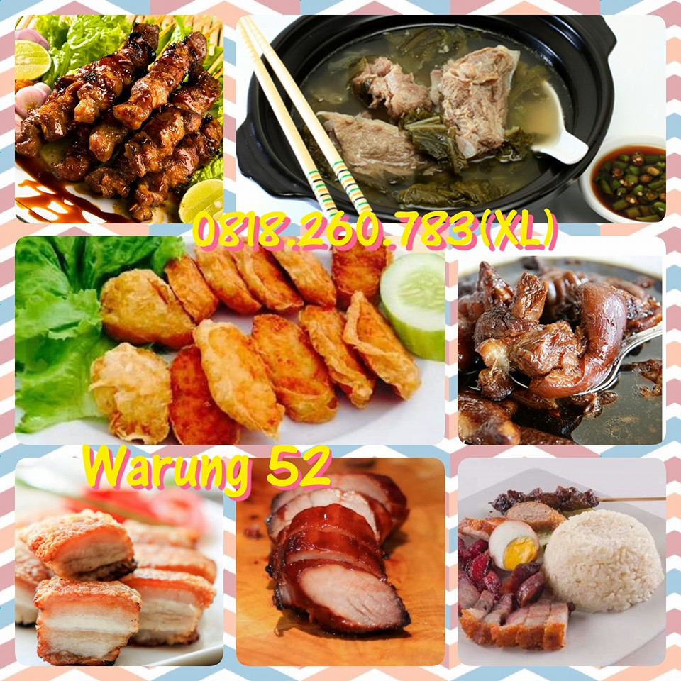 Hekeng Ponti, Nasi Campur Hainan, Babi Panggang, Sate Babi, Baikut Sayur Asin, Titee, Yamie Babi