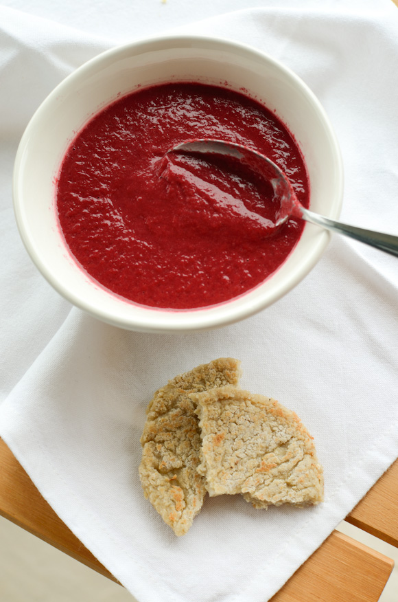 Scandi Home: Beetroot and liquorice soup with quinoa flat bread