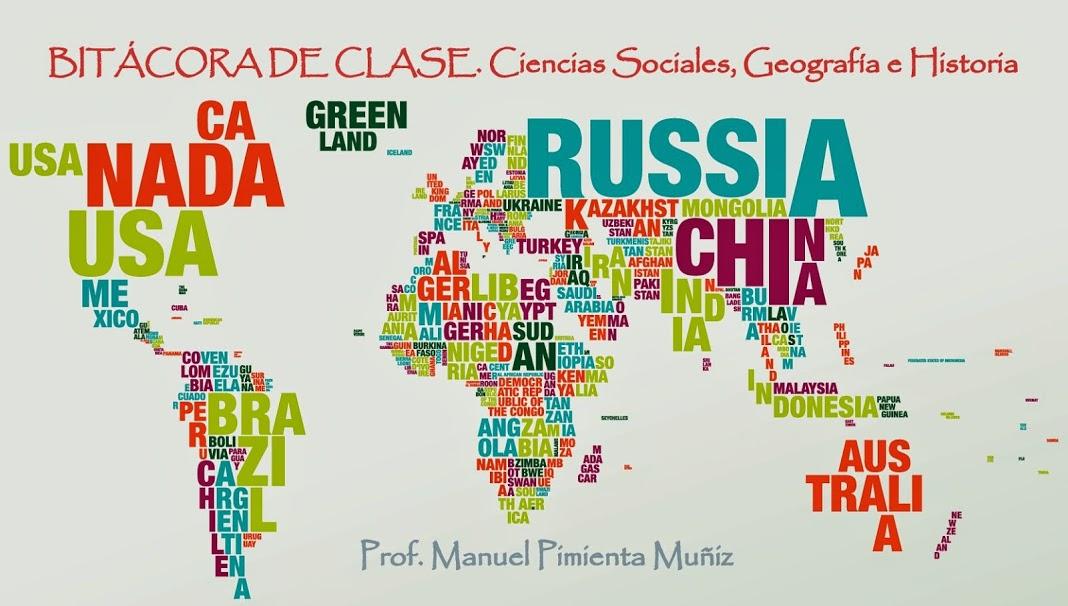 Bitacora de Clase. Ciencias Sociales, Geografía e Historia