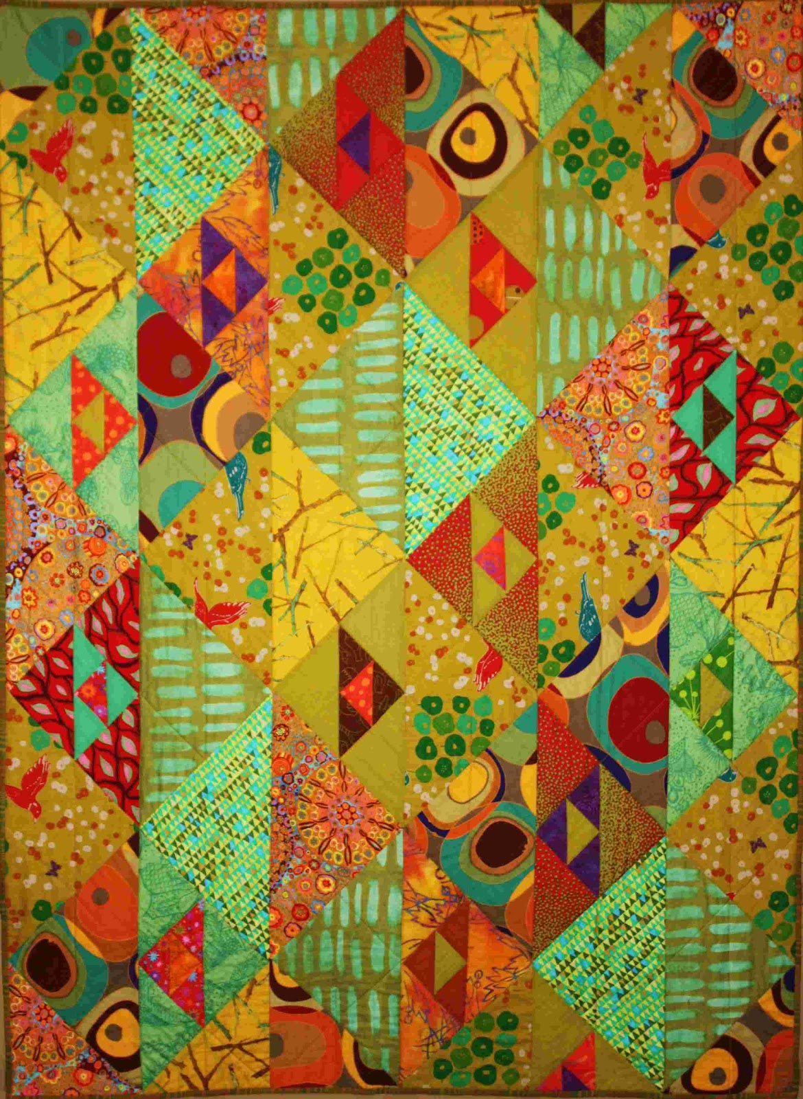Quilt Inspiration: Simple shapes in fabulous fabrics : jenny bowker quilts - Adamdwight.com