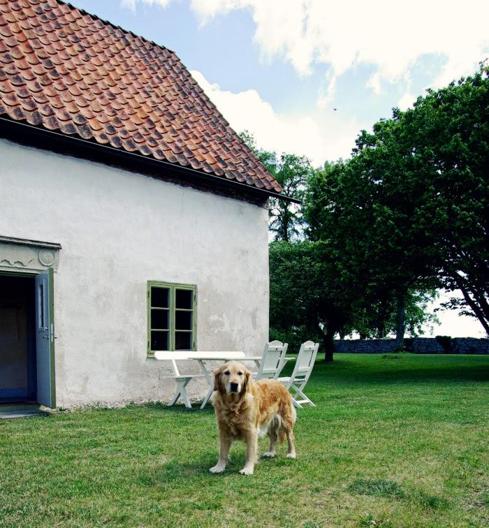 old garden house, stone