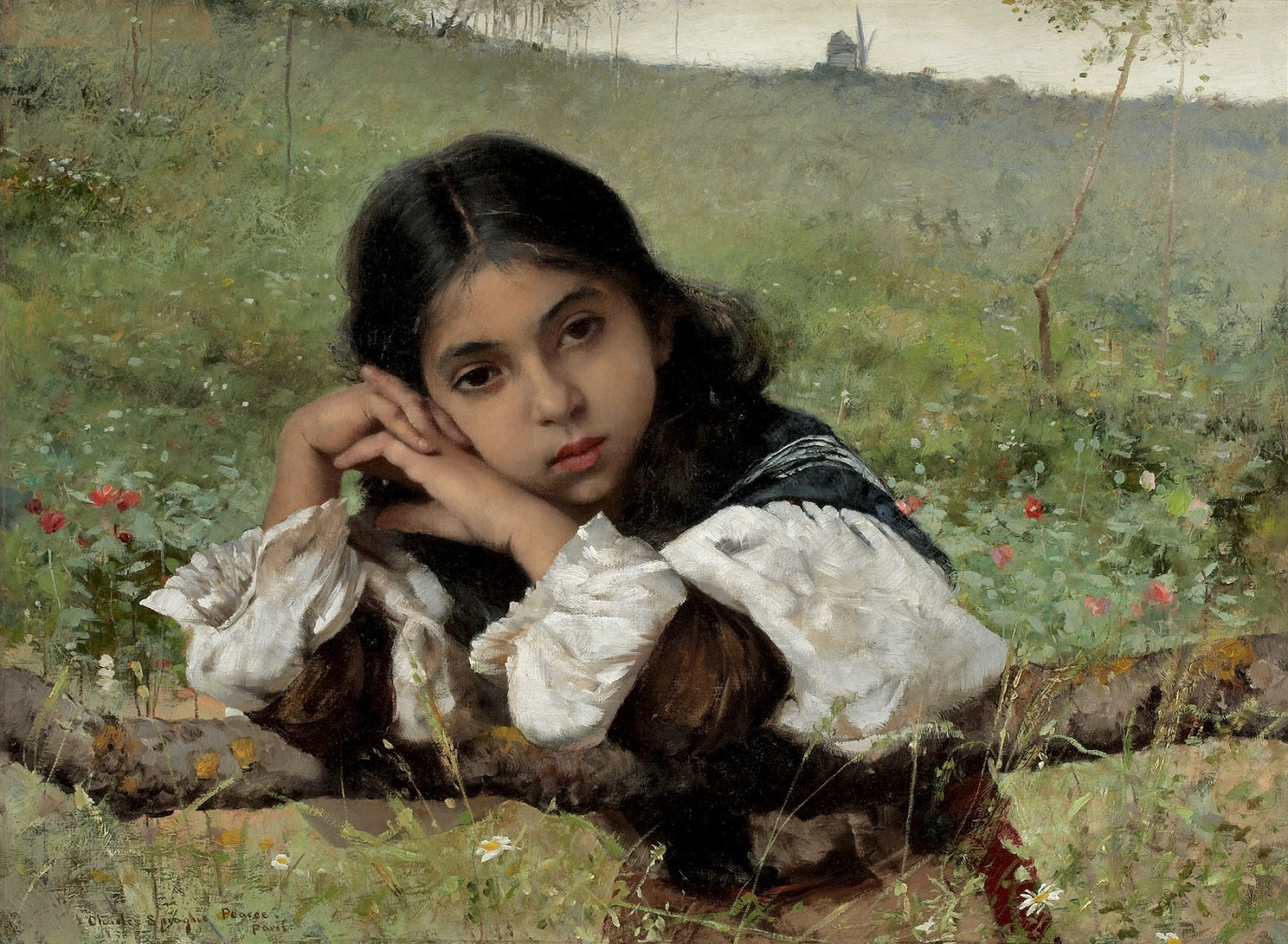 Charles  Sprague  Pearce  moments  of  thoughtfulness