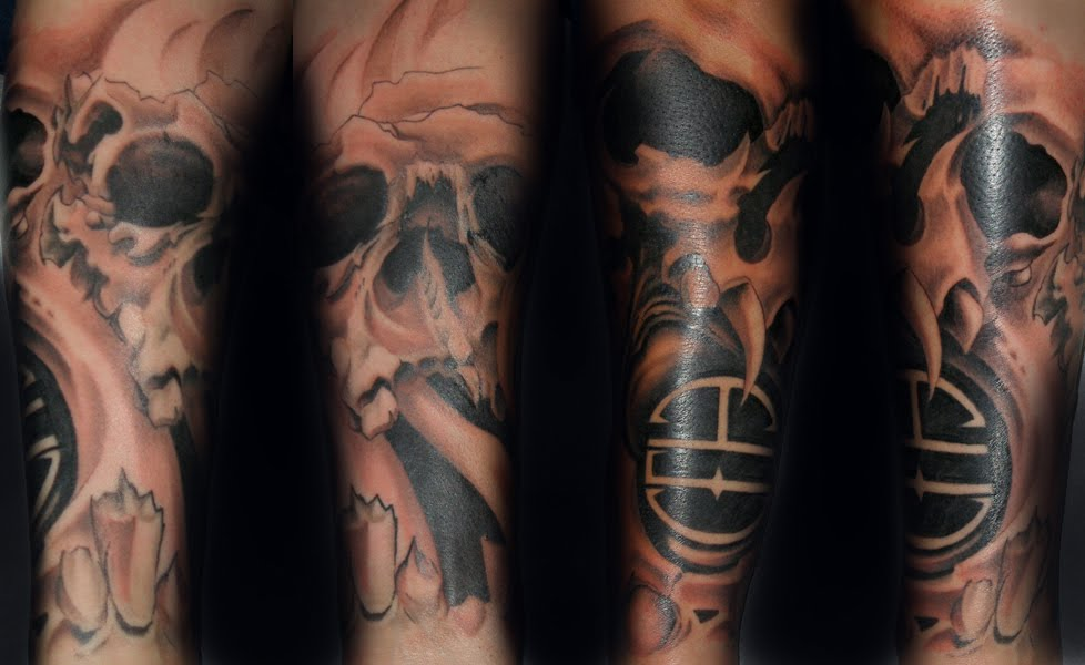 Skull Sleeve Tattoo Designs