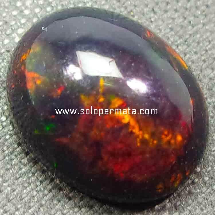 Batu Permata Black Opal Fire Kalimaya - 26B10