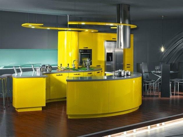 ديكور مطبخ أصفر