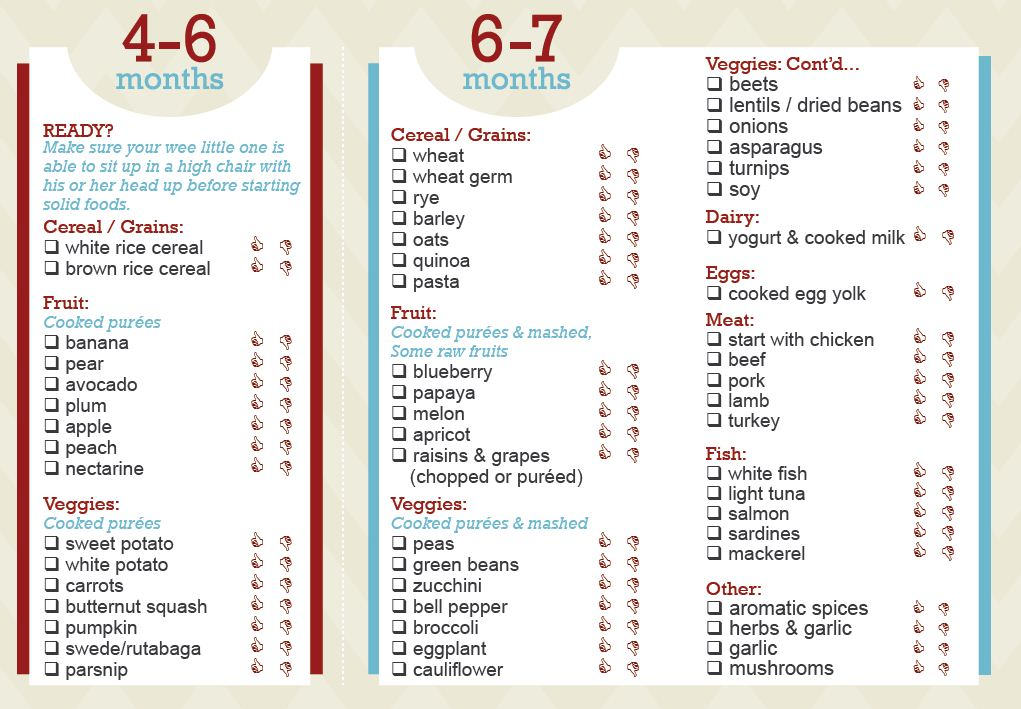 Diet Chart 6 To 7 Month Baby Food For Indian
