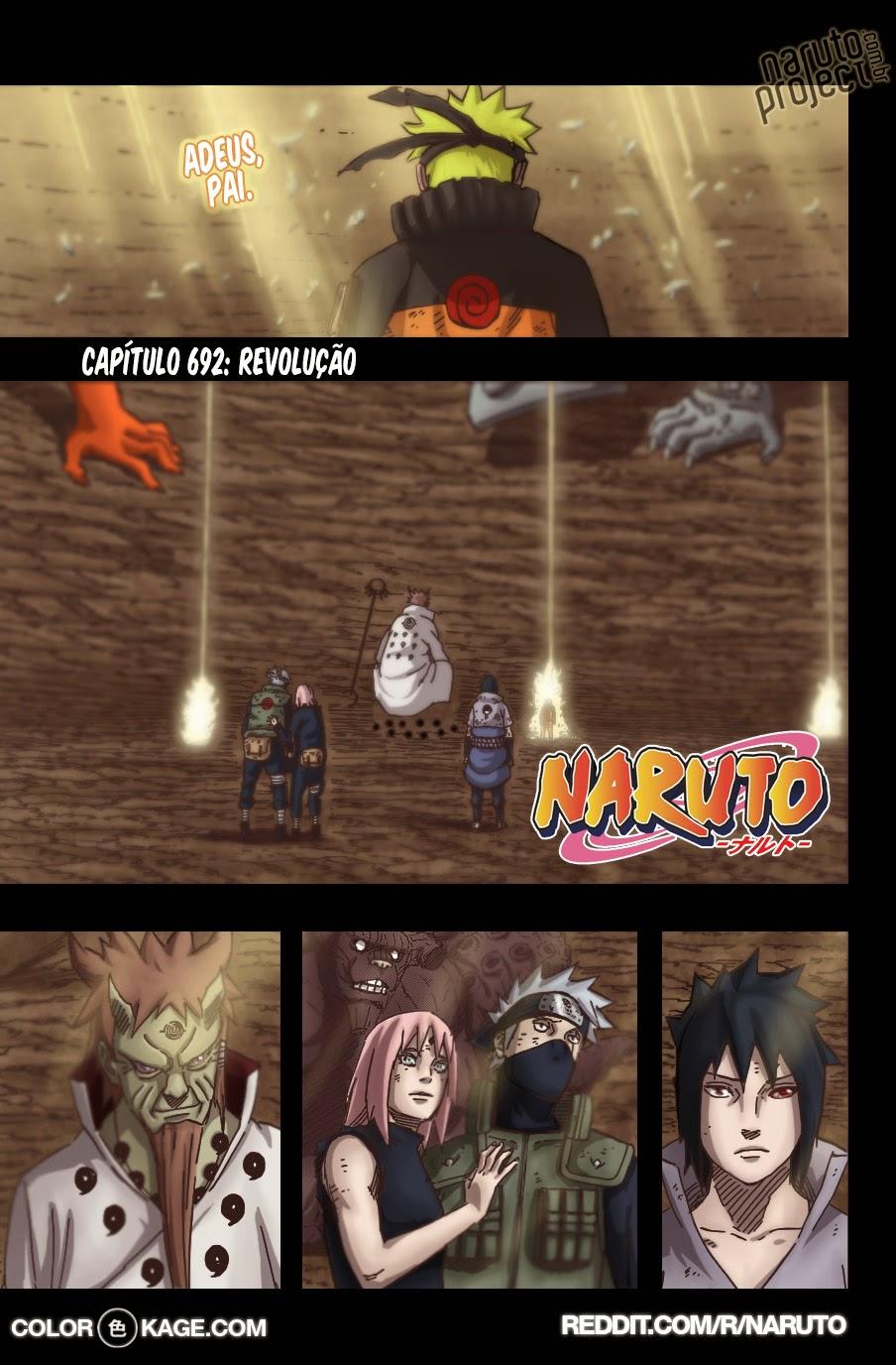 Naruto 692 Mangá Colorido