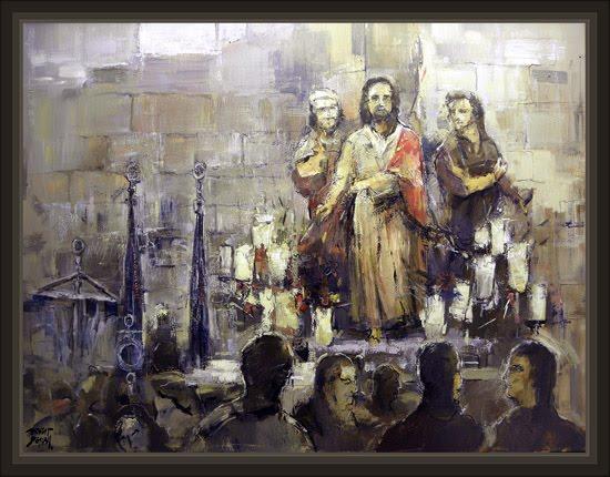 SEMANA SANTA-TARRAGONA-PINTURAS-RELIGIOSAS-PINTOR-ERNEST DESCALS-