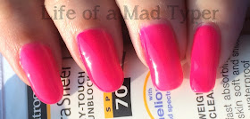 DIY hard nails Pink hottie