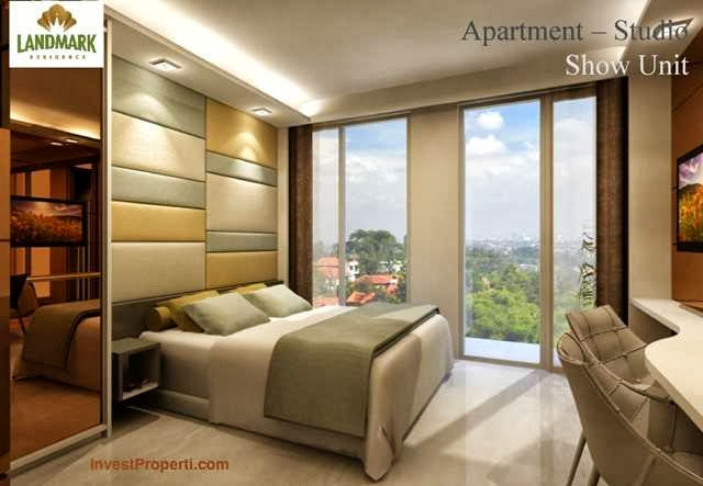 Interior design apartemen landmark residence bandung for Interior apartemen studio