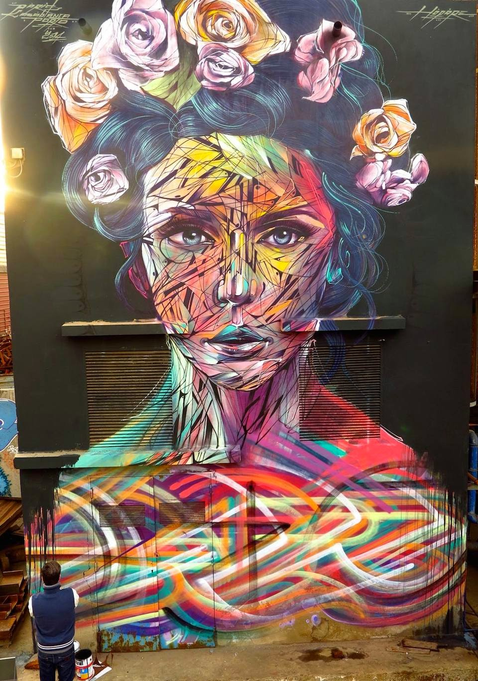 Street art/ by David Walker/ Festival Auberviliers