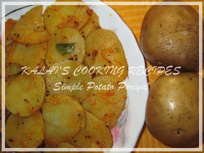 Simple Potato Poriyal - Urulai Kizhangu Poriyal