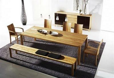 Decora el hogar: Comedores modernos de madera