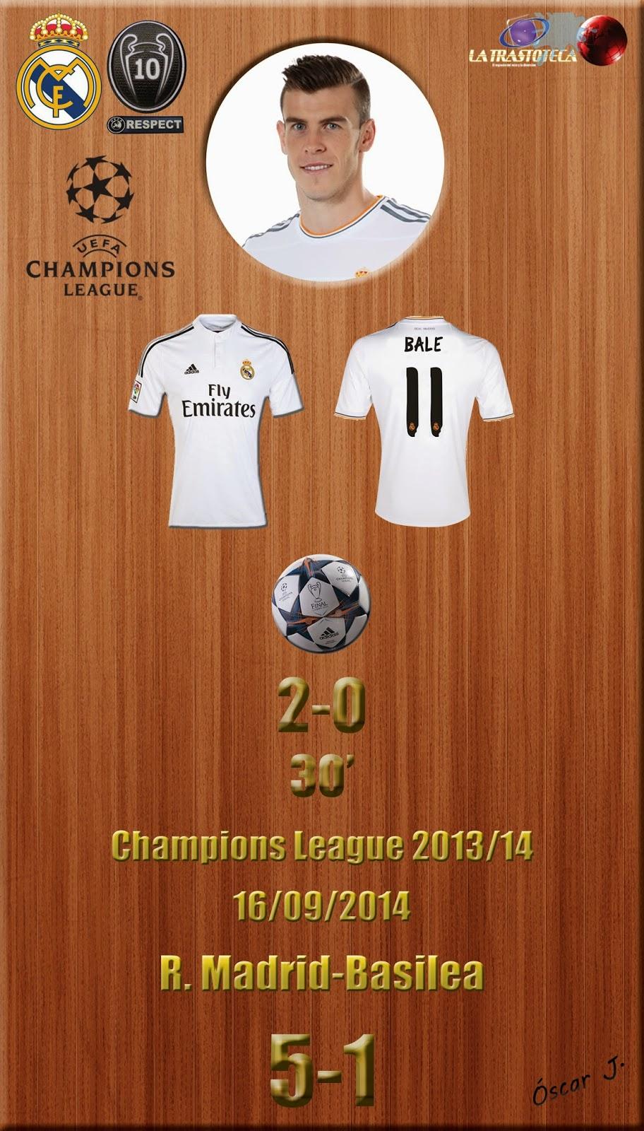 Bale (2-0) (Golazo de la jornada) - Champions League. Jornada 1 (16/09/2014)