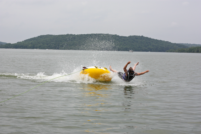 lake tubing wipeout