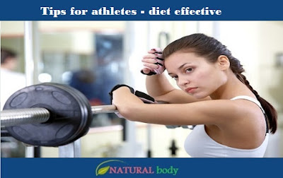 Tips for athletes - diet effective