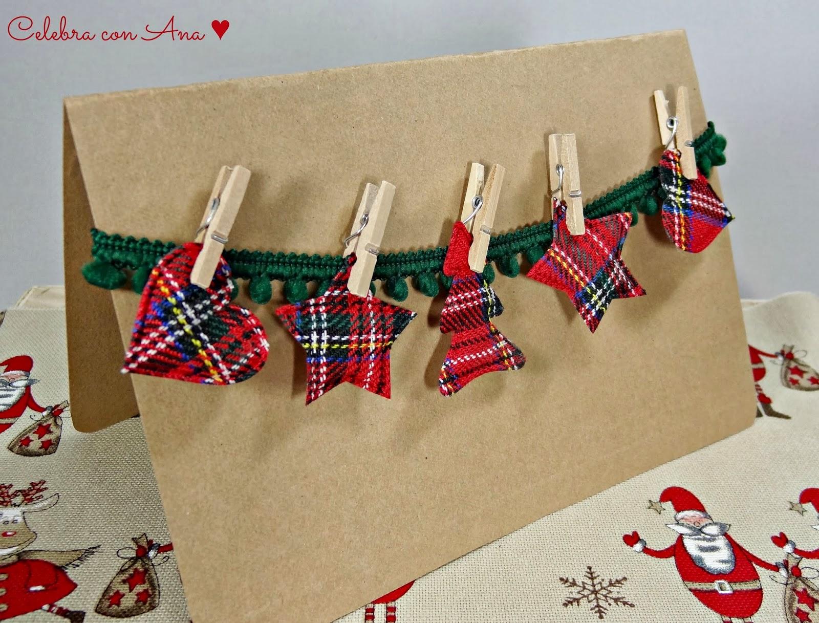 Celebra con ana compartiendo experiencias creativas - Tarjeta navidad original ...