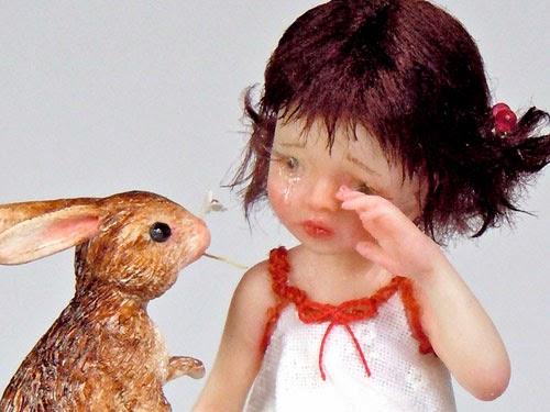 OOAK Bimba con Coniglio