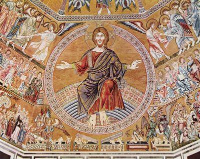 Art e arte bizantino for El mural de mosaicos