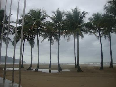Praia do Gonzaga, em Santos SP
