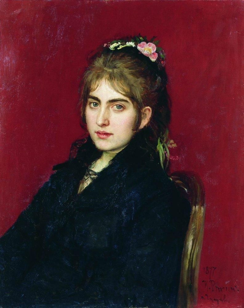 Portrait of s.i. lyubitskaya (1877)