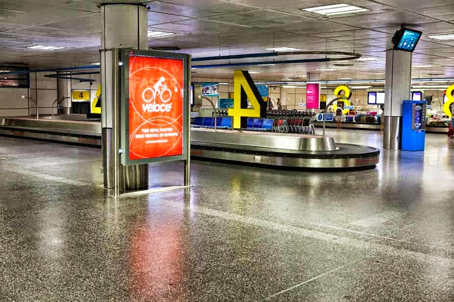 Veloce 2014 Ads at London Gatwick Airport