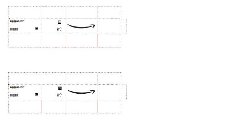 maria 39 s minis free printable amazon shipping boxes. Black Bedroom Furniture Sets. Home Design Ideas