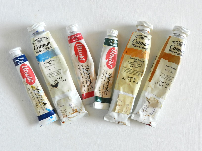watercolor paint tubes