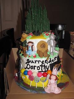surrender dorothy wizard of oz cake by tara e