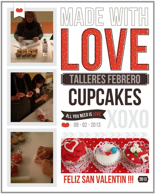 taller cupcakes san valentin