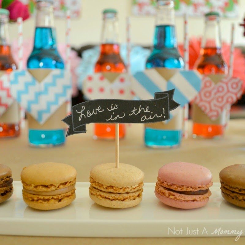 Love Is In The Air Valentine Table macarons