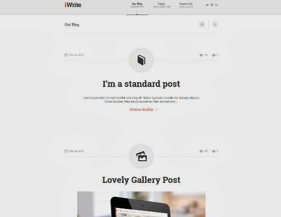 iWrite Minimal Responsive Blogging Theme